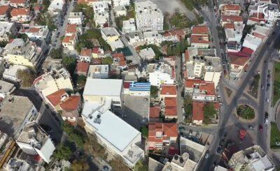 Ελληνική Σημαία στην οροφή της ΑΕΝ Χίου