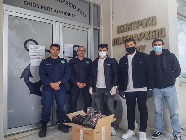 Ενίσχυση Λιμεναρχείου Χίου με υγειονομικό υλικό από τους σπουδαστές της ΑΕΝ Χίου